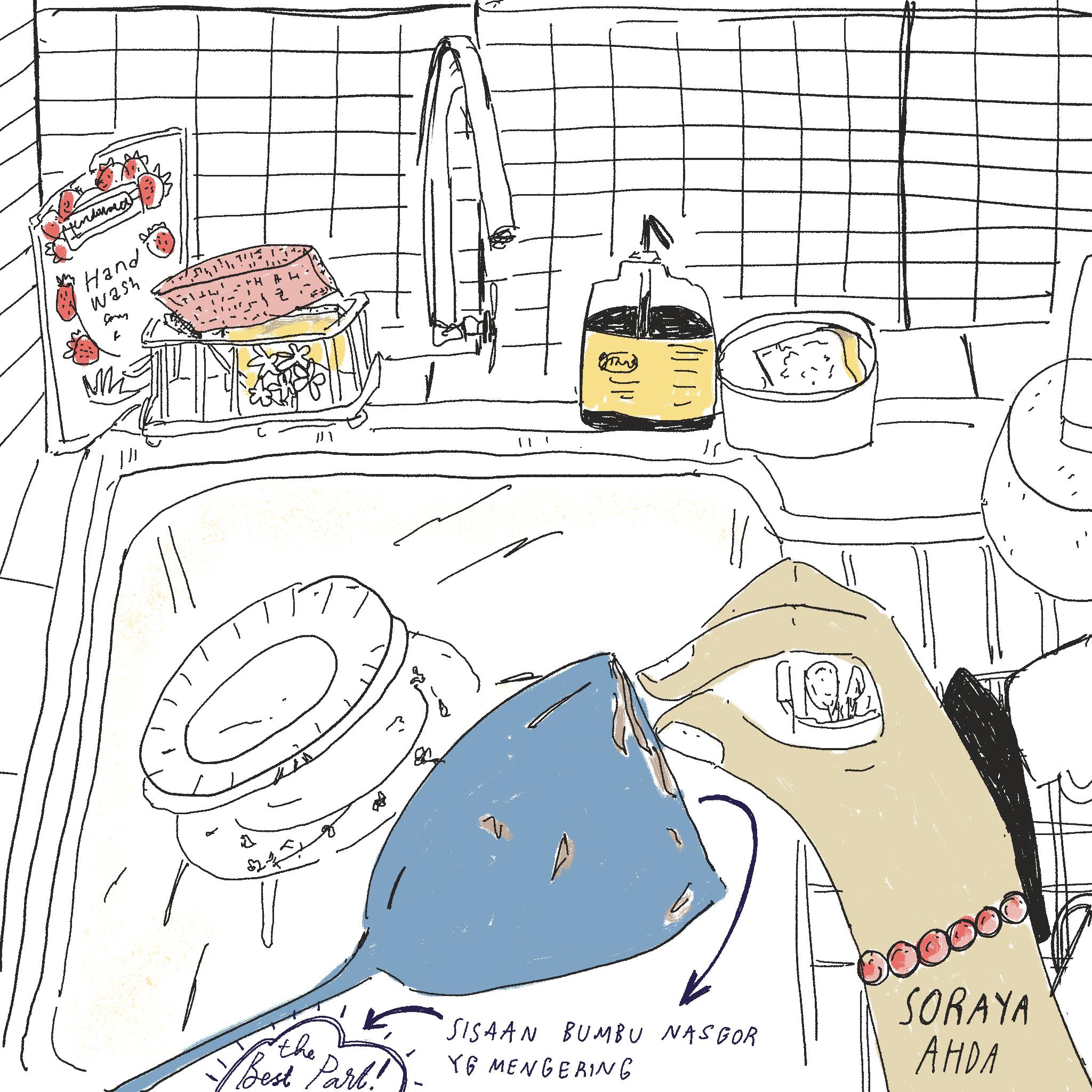 food illustration sketch oramuf